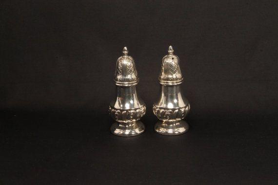 Silver Salt and Pepper Shakers Salt & Pepper by ClockworkRummage, $30.00