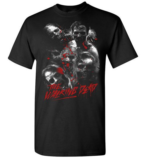 The Walking Dead has become quite the hit on AMC and this tee celebrates the unnamed stars of the show...the zombies. Get ready for the next season with this great tee. At least you know these charact