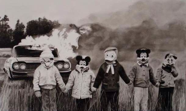 Ruined childhood #disney #mickeymouse #fire