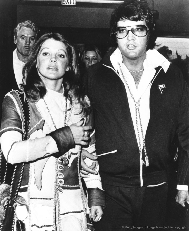 Elvis Presley and Priscilla, day the divorce was finalized.