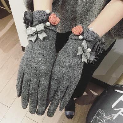 2016 Autumn Winter Women Gloves Touch Screen Gloves Cashmere Wool Mittens Wrist Warmer Female Gloves Luvas Feminina ZS-AGB311