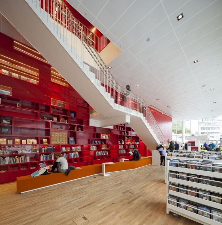 #norway #red   Plassen Cultural Center   3XN Architects #architecture