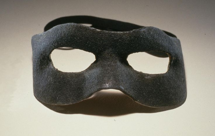 """This iconic black mask was used each week to disguise a virtuous Texas Ranger (played by Clayton Moore) as he, along with his trusted  friend Tonto (played by Jay Silverheels), fought crime on the frontier. """"The Lone Ranger"""", which began as a radio show, ran as a Western television series on ABC from 1949-57. #loneranger"""