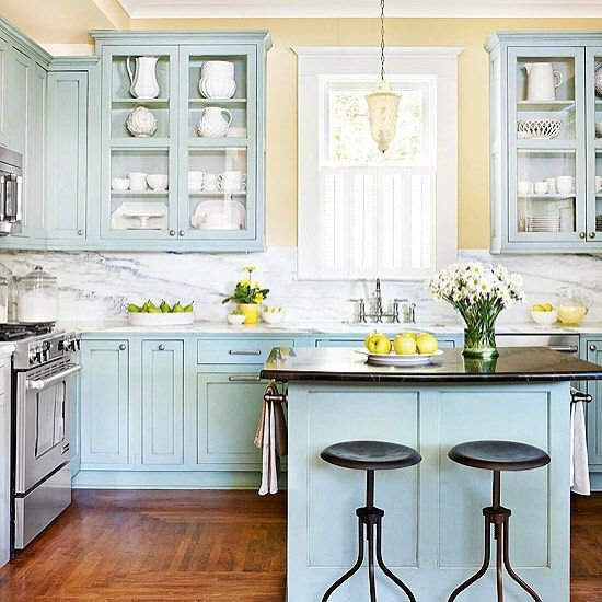 This Kitchen From Betterhomesandgardens Is Pretty Dreamy Would You Be Brave Enough To Do