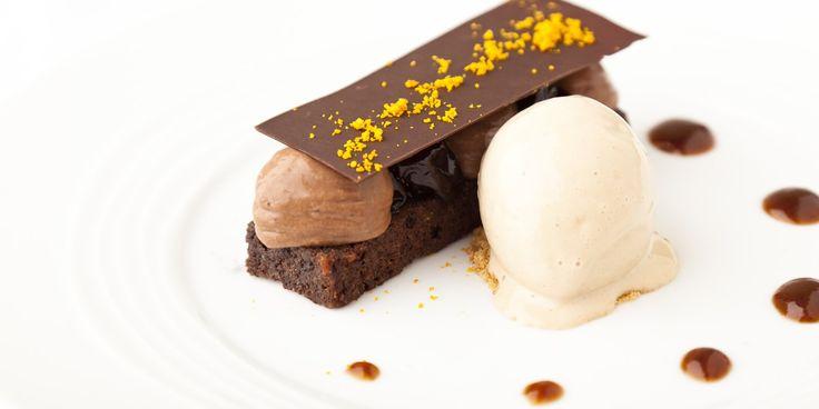 Chocolate Mousse Recipe, Prunes & Tea Ice Cream - Great British Chefs