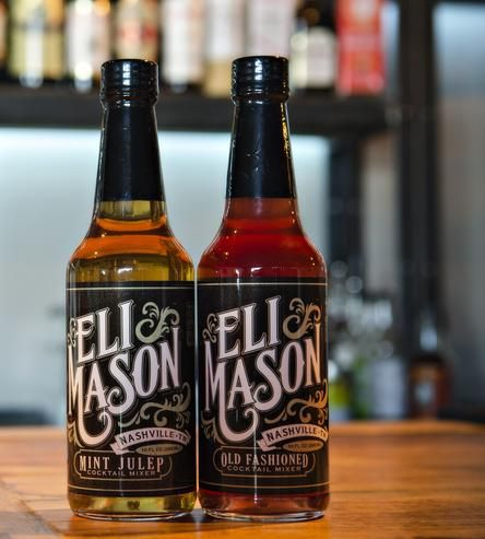 Southern Bourbon Cocktail Mixer Set, Mint Julep & Old Fasioned by Eli Mason on Scoutmob Shoppe