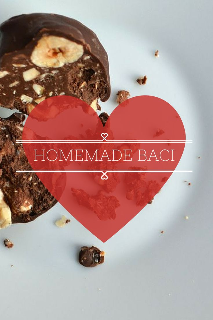 """How to Make Homemade Baci {Italian Chocolate Hazelnut Kisses} - Perfect for Valentine's Day or just to send a little romantic """"miss""""! http://italyproject365.com/homemade-baci-hazelnut-chocolate-kisses/"""