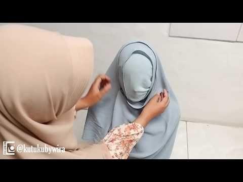 Cara Menjahit Jilbab Pashmina Instan, mudah dan praktis. - YouTube