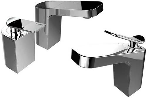 Bristan Alp mono basin mixer and two hole bath filler tap pack in chrome. Only £267 at Taps4less.