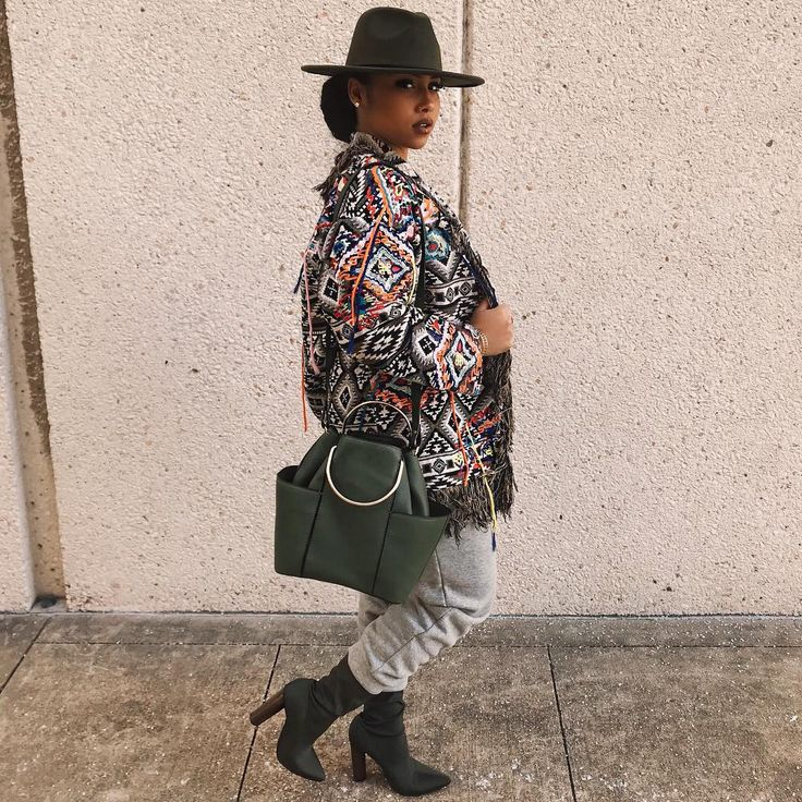 "9,443 Likes, 74 Comments - Anaya Ivy (@theanayal8ter) on Instagram: ""Coming for it all Hat - #rue21 Corset- #vintage Coat- #zara Purse- #zara Sweats- #target…"""