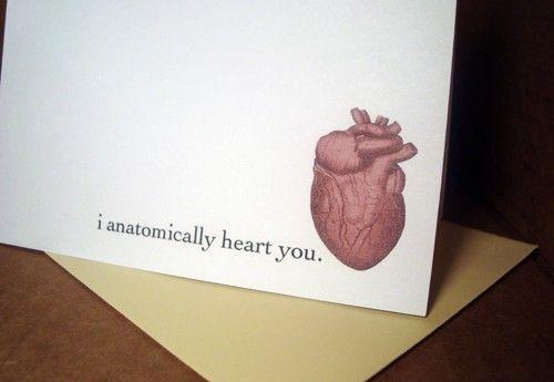 i anatomically heart youValentine'S Day, Anatomy, Valentine Day Cards, Holiday Cards, Valentine Cards, Funny Stuff, Funny Cards, Anatomical Heart, Cards Funny