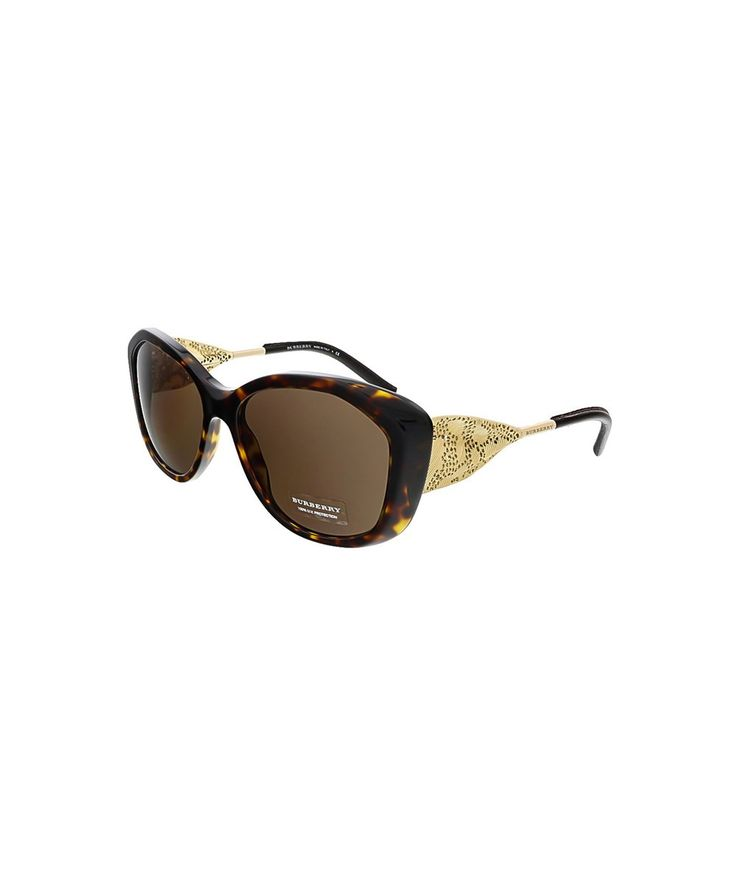 BURBERRY Be4208Q 300273 Dark Havana Oval Sunglasses'. #burberry #sunglasses