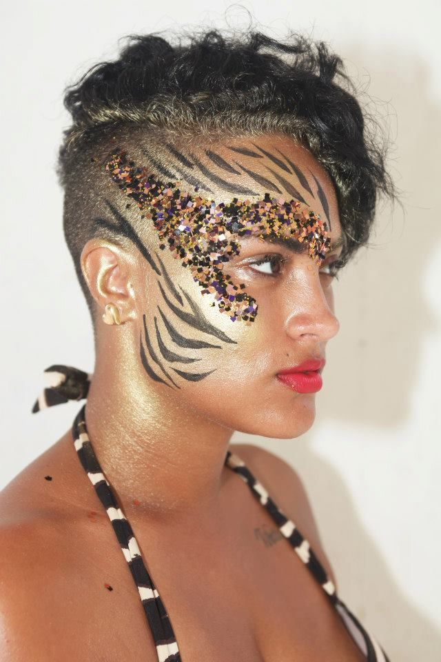 Fierce!!! Bodypaint in Ibiza - would look great on Rihanna!!!!