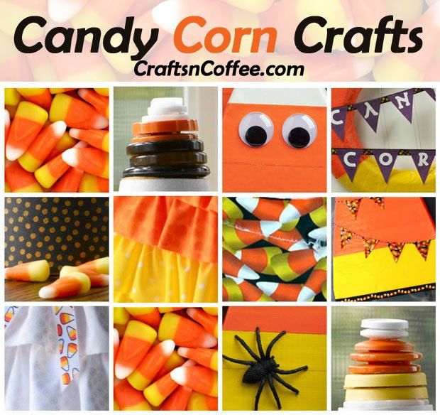 Don't miss Candy Corn Craft week on Crafts 'n Coffee! Seven days of candy corn themed crafts for Halloween. Lots of fun and calorie-free!