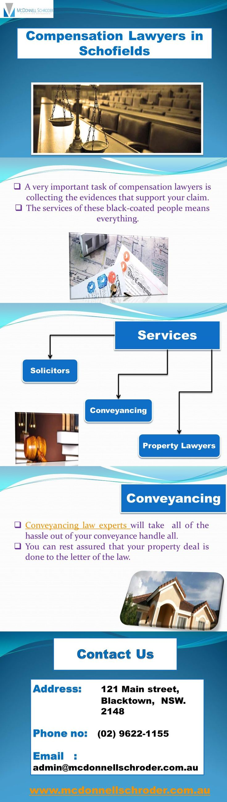 McDonnell Schroder offers Compensation lawyer services in Blacktown at near you. Get best solicitors in Schofields and Blacktown.