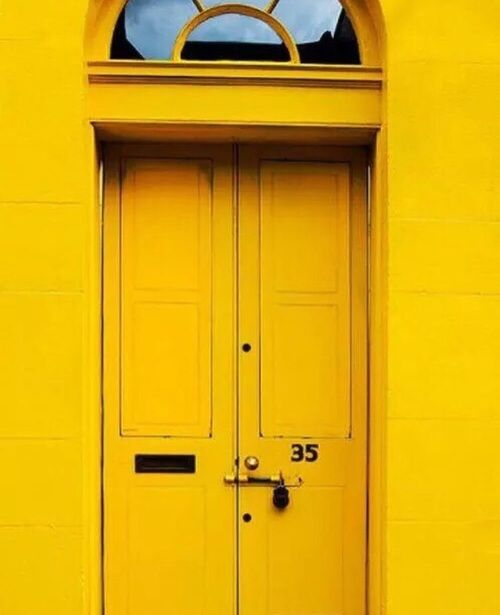 Yellow, Door, And Aesthetic Kép