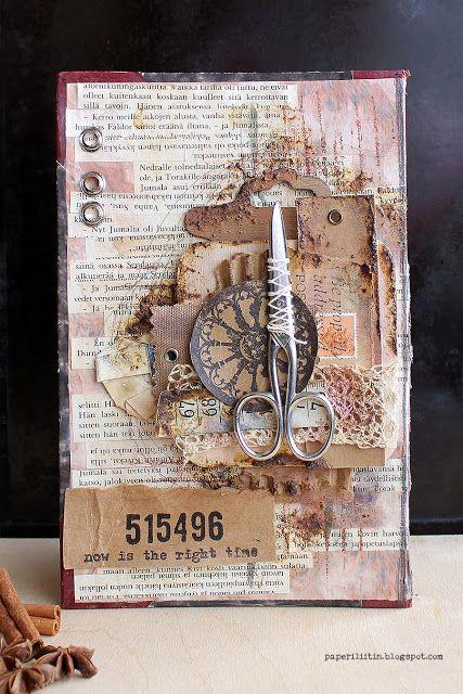 Riikka Kovasin - Paperiliitin: 515496 now's the right time - Craft Stamper