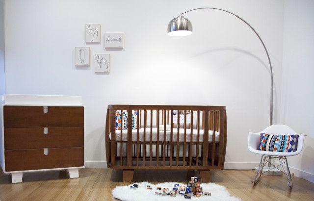 We adore @bloom's new collection, Retro, and its mid-century modern look! #nursery