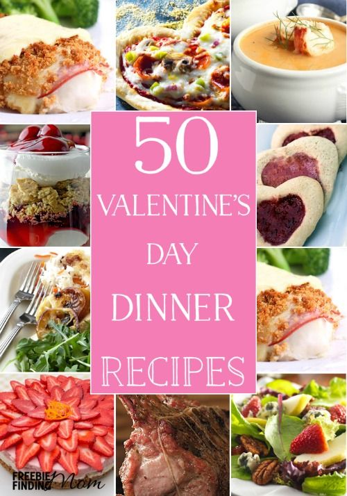 Skip that expensive dinner out this Valentine's Day, and spend it at home with your special someone. Your meal can be just as decadent and delicious but without the high price tag or crowds. Here you'll find 50 Valentines Day dinner recipes for appetizers, drinks, entrees and desserts that will have you wanting to stay home this Valentine's Day.