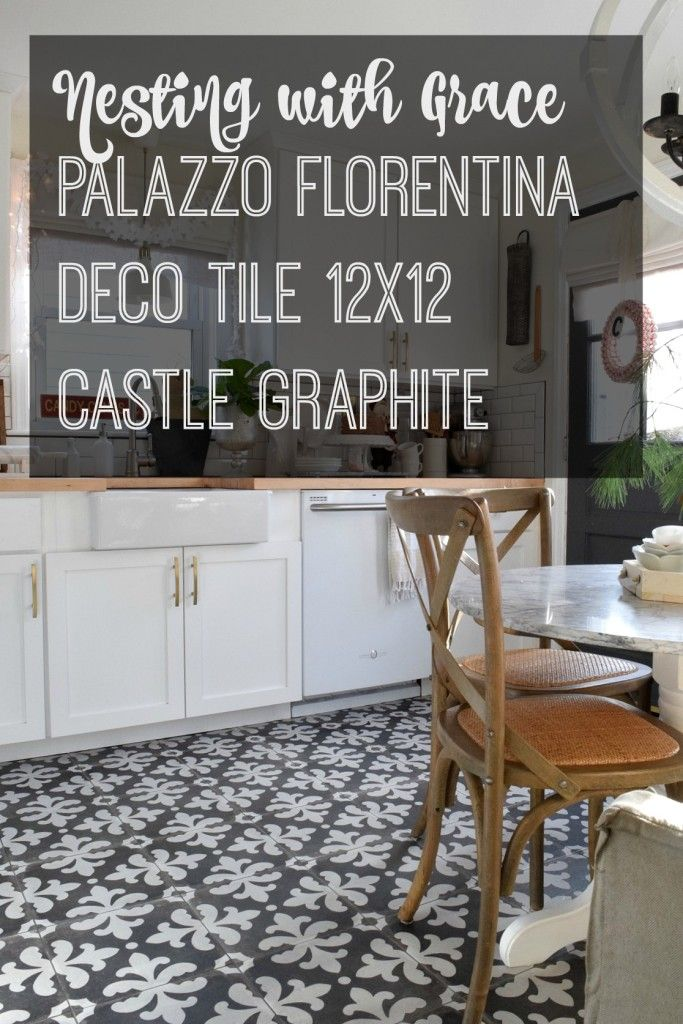 Connecticut Kitchen Remodel - Nesting With Grace. Palazzo Florentina deco tile. Make a statment in a cozy cape cod home.