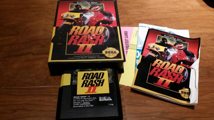 Road Rash II Sega Genesis complete video game,  complete in box road rash 2, road rash 2 Sega Genesis, Sega Genesis video game, Road Rash II - pinned by pin4etsy.com