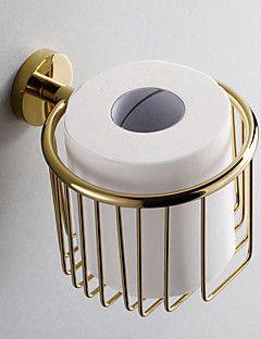Toalettpappershållare i mässing