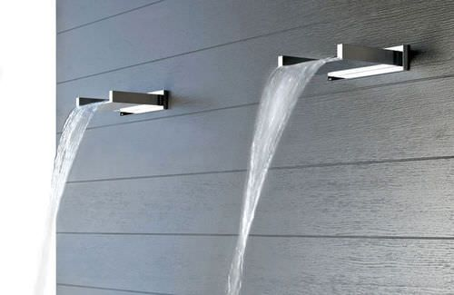 Waterfall shower / chrome / vertical 20193 by Prospero Rasulo GESSI SPA