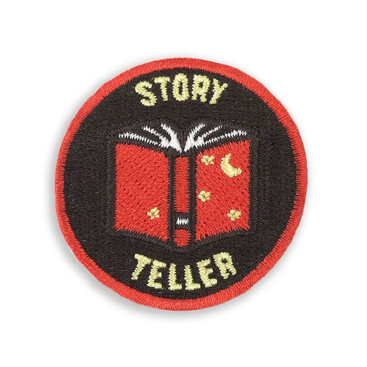 Iron On Patch Story Teller (With images) Iron on