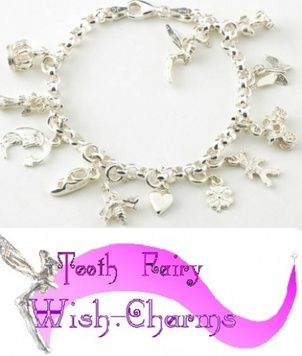 Bracelet - TOOTH-FAIRY WISH CHARMS - Sterling Silver