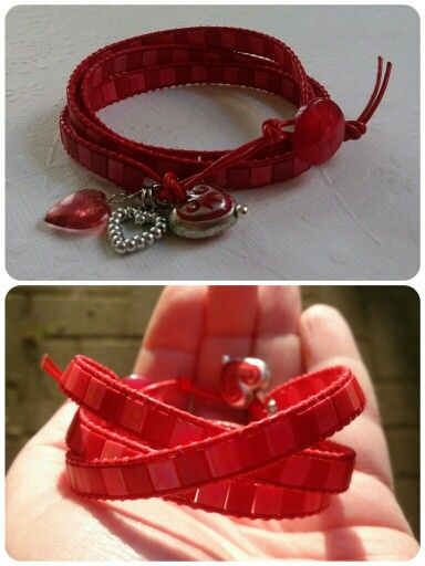 Red leather wrap.