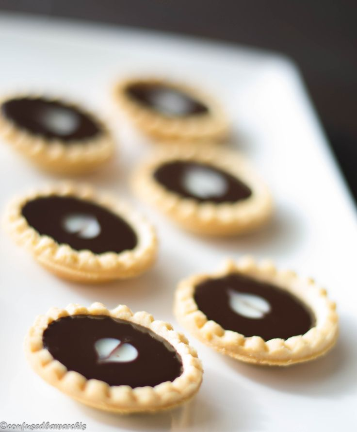 Mini Chocolate Tarts - Confused Bawarchis