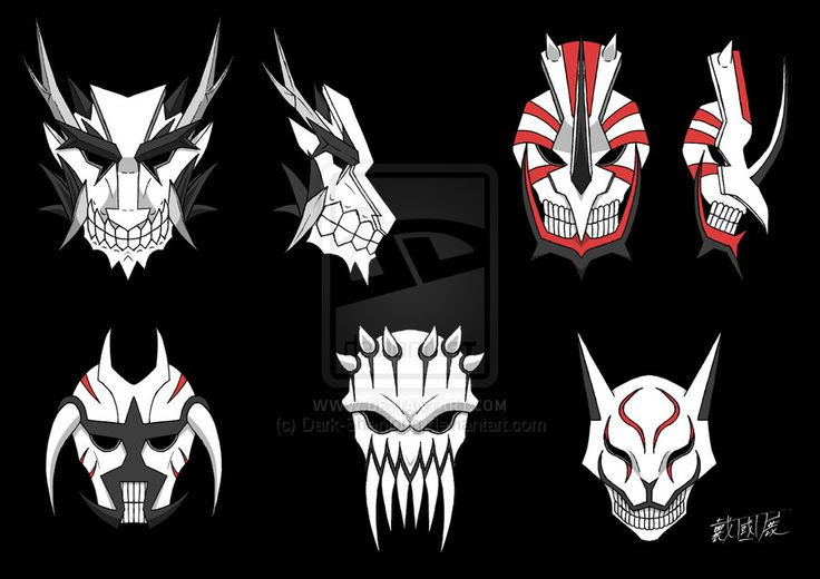 Vizard Masks Set by Dark-Shenlong