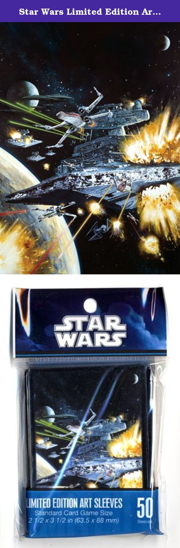 Star Wars Limited Edition Art Sleeves X-Wing Assault. FFGSWS05 X-wing Assault LE Art Sleeves by Fantasy Flight Games Use the Force to protect your cards! Fantasy Flight Supply presents Star Wars Art Sleeves in six thematic designs, offering players new ways to shield their valuable cards as they simultaneously evoke dramatic space battles, dashing rogues, heroic mentors, and menacing villains. These attractive, high-quality sleeves come in packs of 50 and are made of 100 micron-thick...
