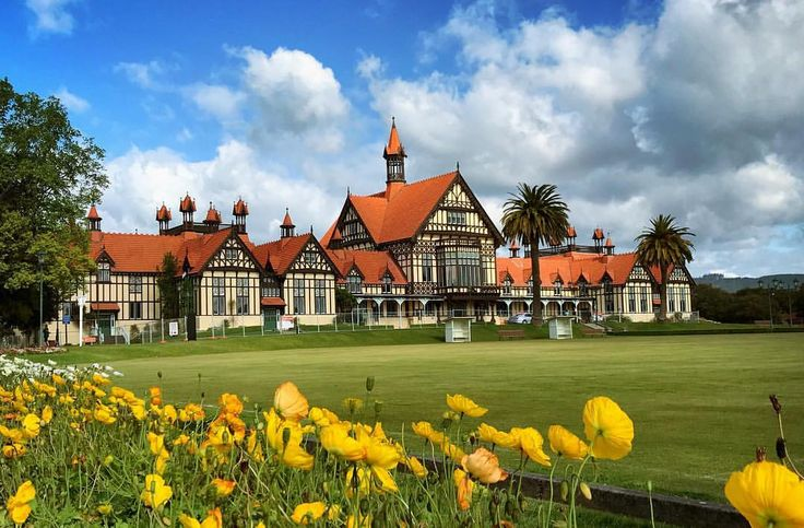 """@live_life_love_travel on Instagram: """"The beautiful Rotorua museum in the Government Gardens."""""""