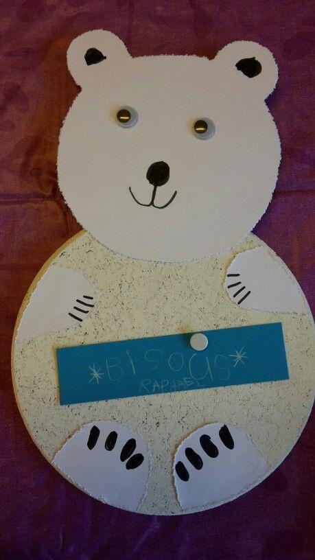 ours polaire memo ventre fait avec les sous plat en li ge de ikea avec des yeux pinterest. Black Bedroom Furniture Sets. Home Design Ideas