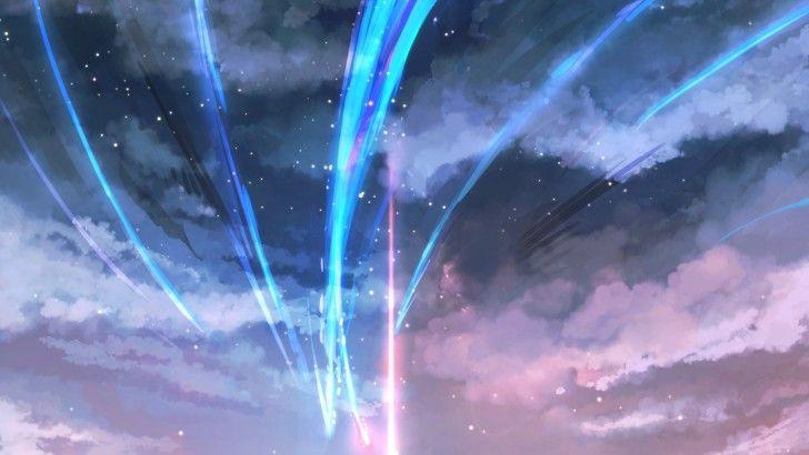 Your Name. Anime Art Comet Night Sky Stars Wallpaper