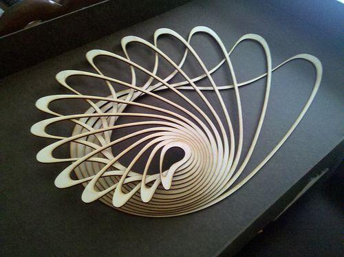#lasercut wooden sculpture
