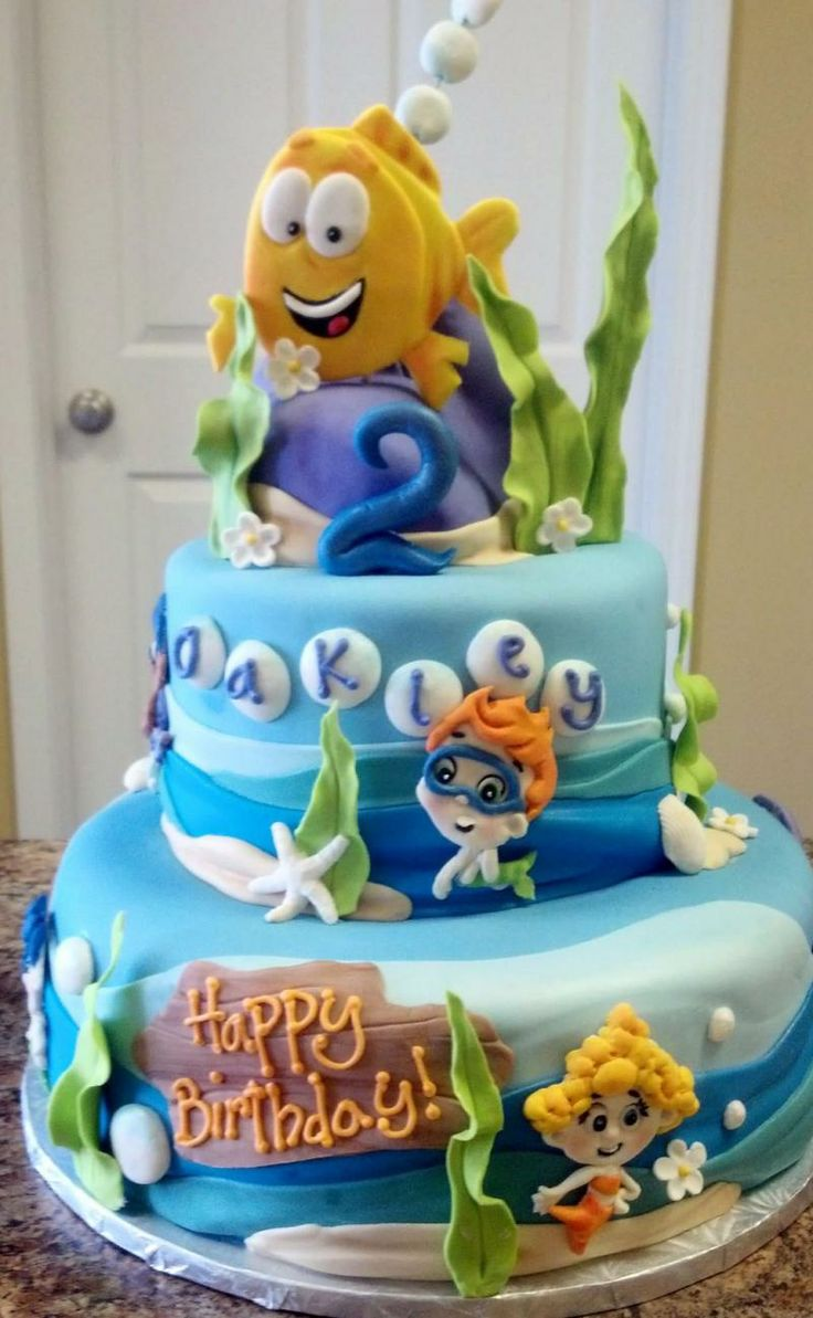 desserts by lori cake option piper 39 s birthday pinterest birthday cakes bubble guppies and. Black Bedroom Furniture Sets. Home Design Ideas