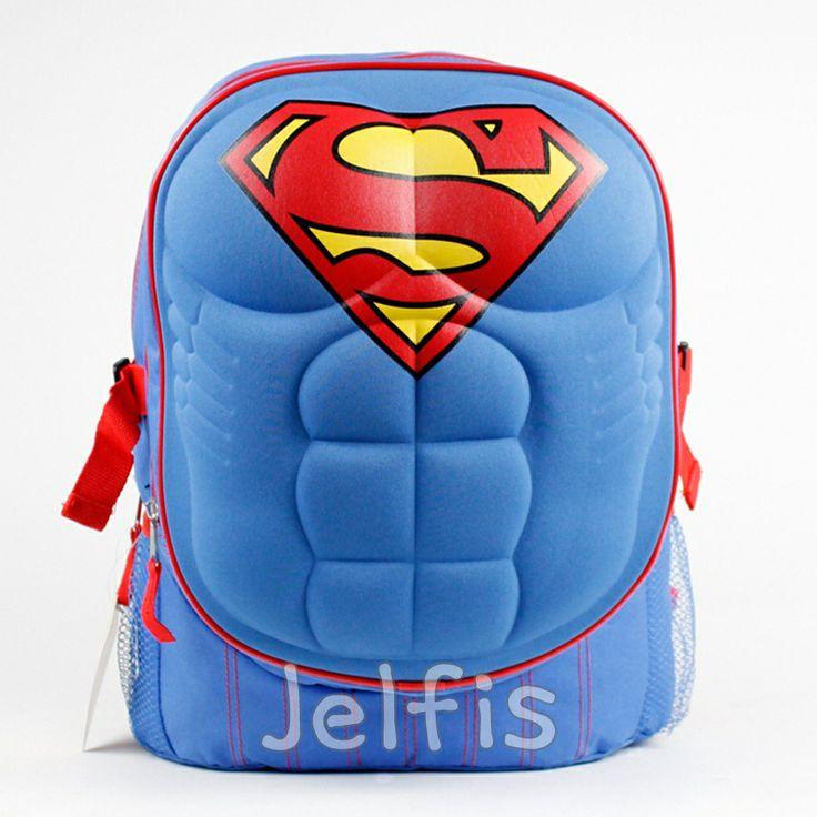 Jelfis.com - Dc Comics Superman Backpack - 16' Large Superman Logo Chest Boys School Book Bag, $16.99 (http://www.jelfis.com/dc-comics-superman-backpack-16-large-superman-logo-chest-boys-school-book-bag/)