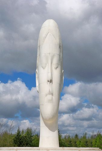 """The """"Big Head"""" The Dream statue in St Helens. by Jaume Plensa."""
