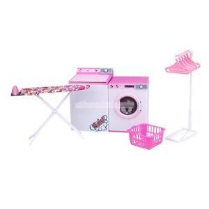 Buanderie Barbie Machine À Laver Séchante Table Ensemble DE JEU Pour Poupée | eBay