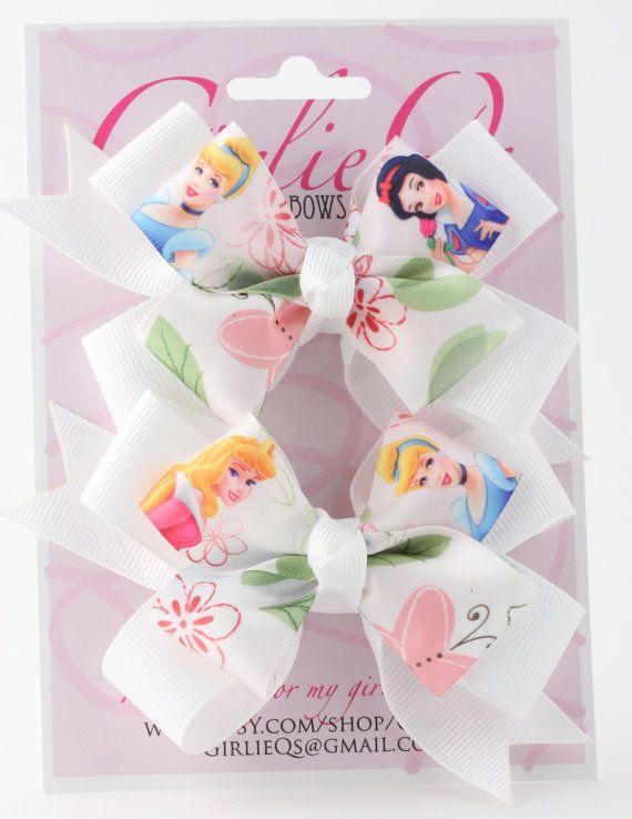 "Disney Princess Cinderella Pigtail Ponytail Hair Bow Hair Clip 3.5"" x 3"" Cinderella Wedding Dress on Etsy, $9.50"