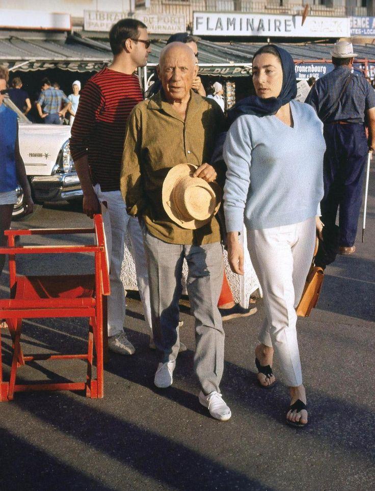 Picasso and Jacqueline St Tropez 1963 André Sartres