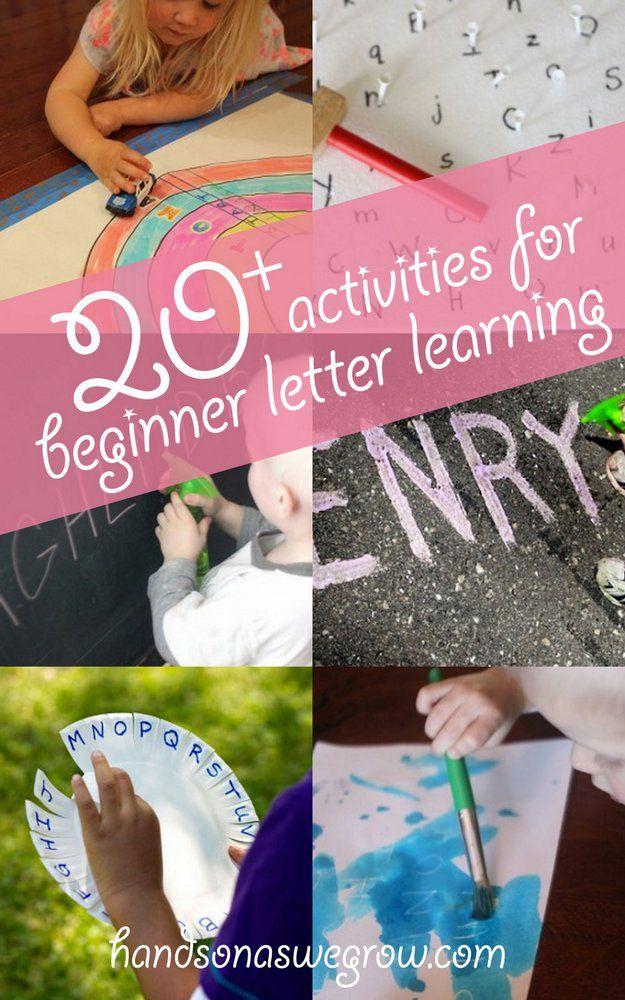 20+ activities for beginner letter learning