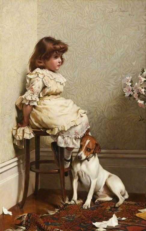 CHARLES BURTON BARBER-1886- In Disgrace