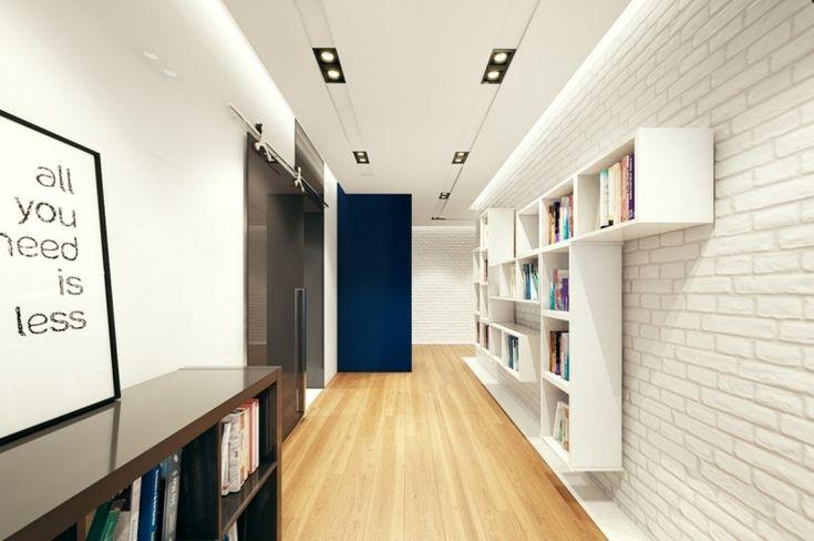 indirekte beleuchtung hinter der abgeh ngten decke im flur. Black Bedroom Furniture Sets. Home Design Ideas