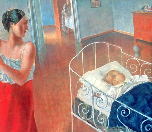 Sleeping Child-Kuzma Petrov-Vodkin (1878 – 1939, Russian)