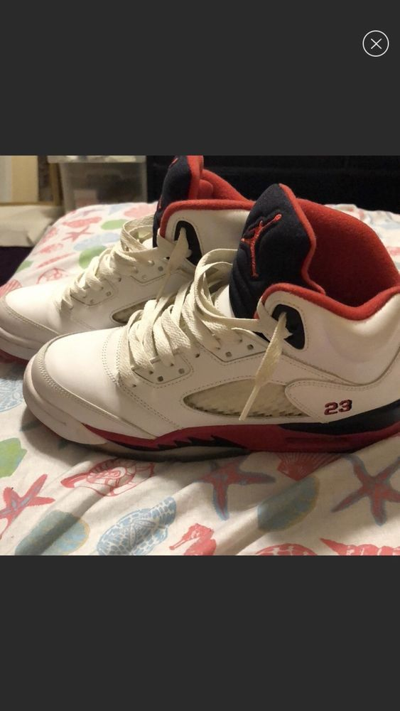 sports shoes 4e699 e8a6f Nike Air Jordan 5 Fire Red Size 5 1 2 In Grade School  fashion  clothing   shoes  accessories  mensshoes  athleticshoes (ebay link)