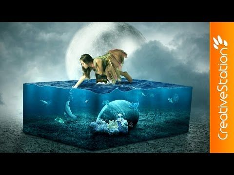 The Lost Aquarium - Speed art (#Photoshop)   CreativeStation - YouTube