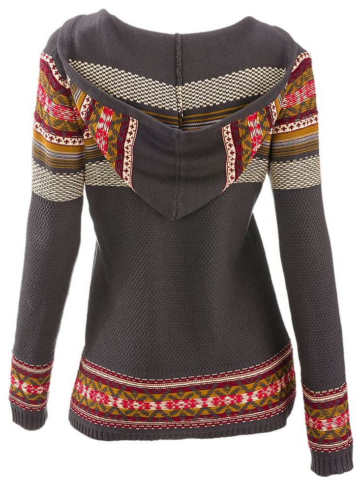 Natural Reflections Jacquard Hooded V-Neck Sweater for Ladies | Bass Pro Shops